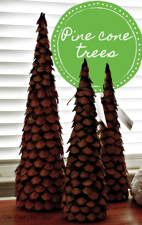 It's easy to make these pine cone trees.