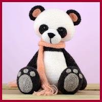 Osito Panda amigurumi