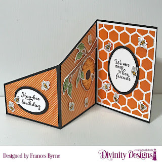 Stamp/Die Duos: Bee-Lieve   Custom Dies: Z Fold Card with Layers, Quilted Honeycomb Background, Double Stitched Ovals, Ovals  Paper Collection: Fall Favorites