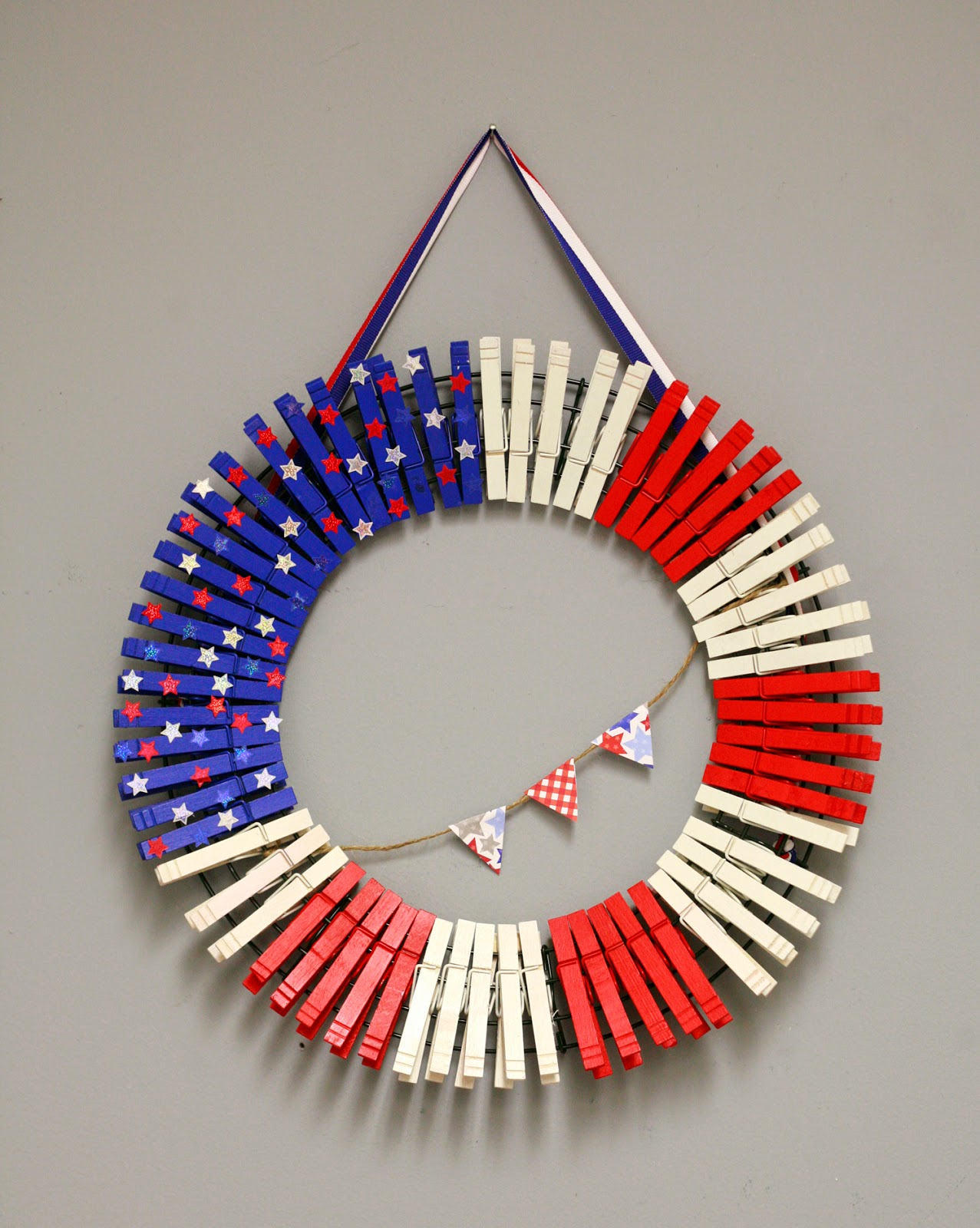 Clothespin Wreath For Christmas Inhabit Zone