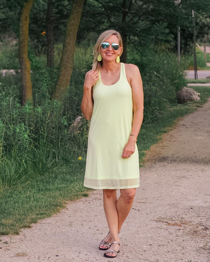 neon lime summer dress