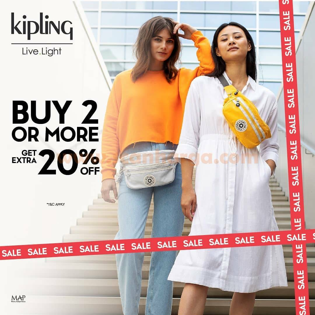 Kipling Promo Buy 2 or more Get Extra 20% OFF