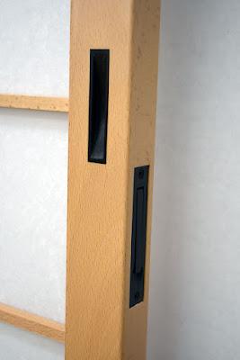 Ebony door pull - Dark Bronze edge pull