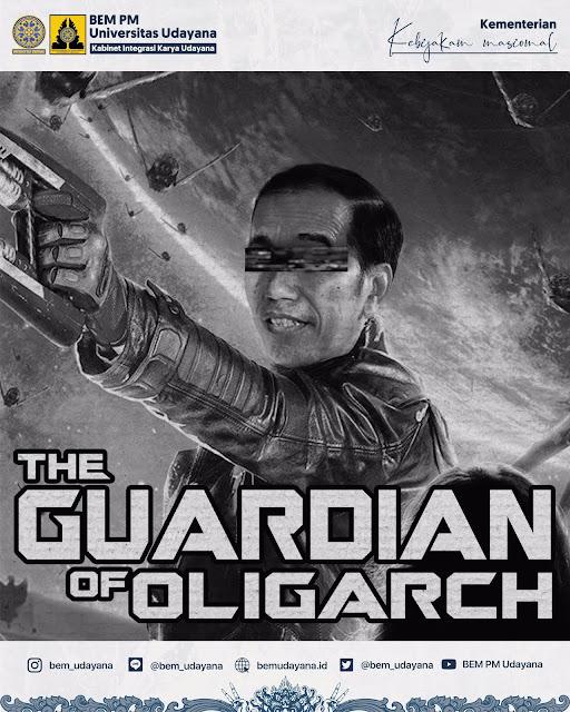 Kembali Dapat Kritikan BEM, Jokowi Dinobatkan Sebagai 'The Guardian of Oligarch' oleh BEM Udayana