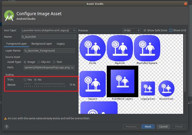 Android Studio - Resize Slider