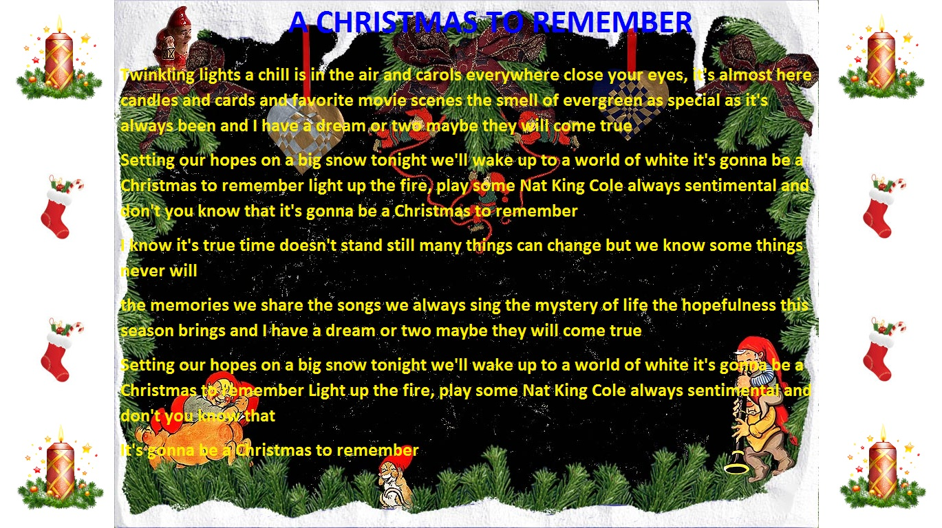 Christmas is here song lyrics