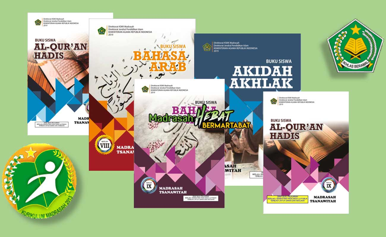 Buku PAI dan Bahasa Arab MTs Kelas 7 8 9 KMA 183 2019