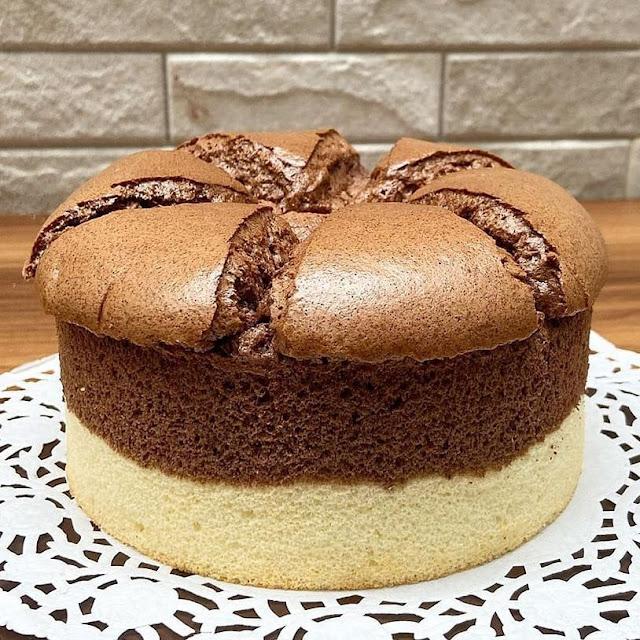 Resep Sajian Chocolate Vanilla Chiffon