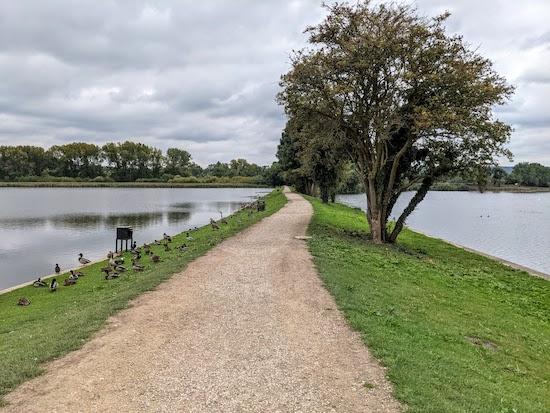 The path between Startop's End Reservoir and Marsworth Reservoir