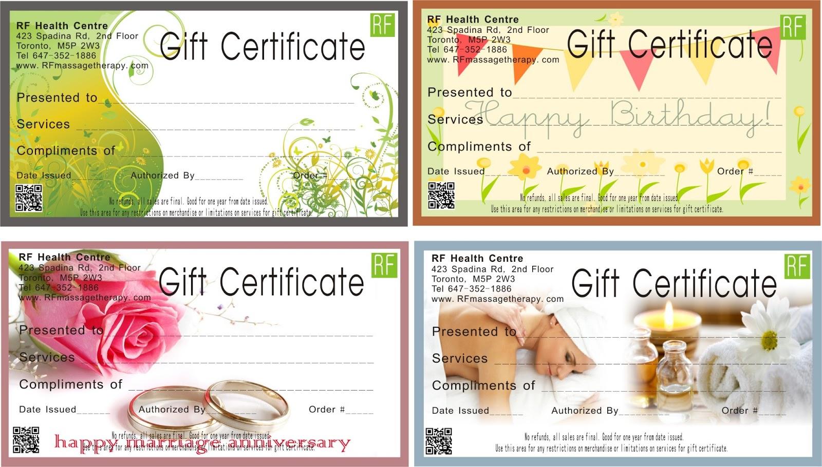 Free massage gift card template lamoureph blog gardenia yelopaper Image collections