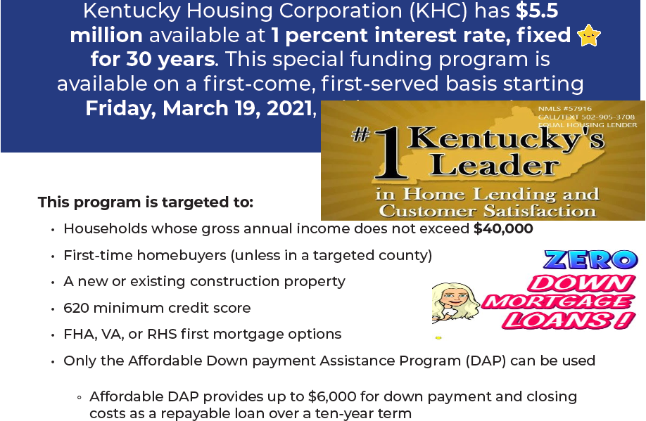 MRB Special Funding Program Kentucky Housing Corporation (KHC) has $5.5 million in Mortgage Revenue Bond (MRB) Special Funding, offering a 1.00 percent fixed rate for 30 years.  The MRB Special Funding Program aids households whose gross annual income does not exceed $40,000 and is limited and available on a first come, first served basis.