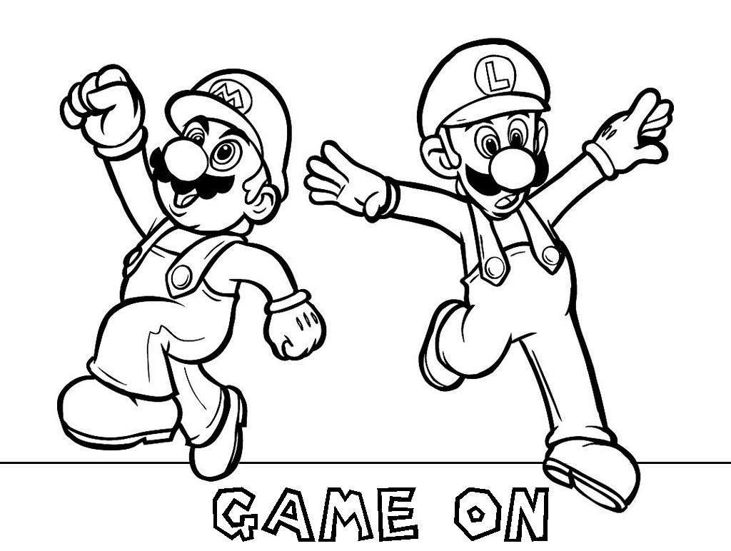 mario brothers coloring pages free - photo#4