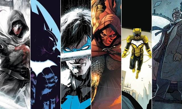 La batfamilia de Batman incluye a Nightwing, Azrael y Gordon