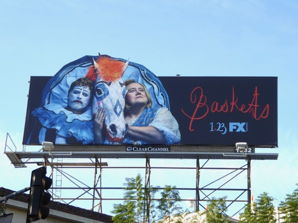 Baskets season 3 special extension billboard