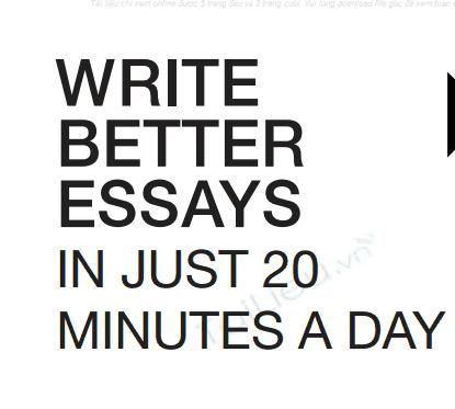 Write better essays