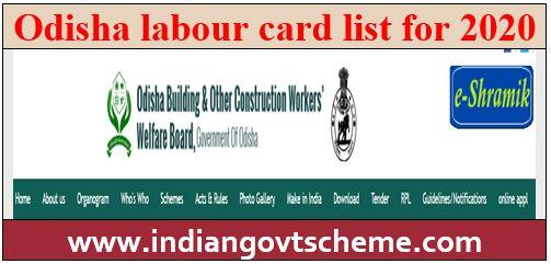 Odisha+labour+card+list