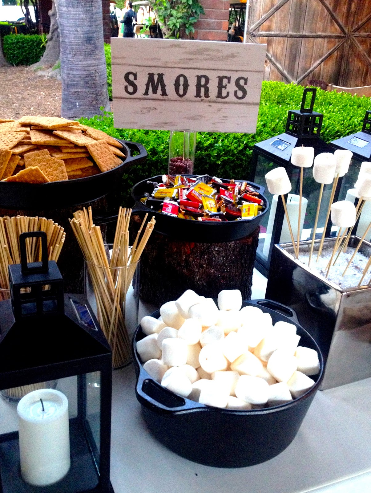 A Rustic Laguna Beach Wedding S'More Bar Station With