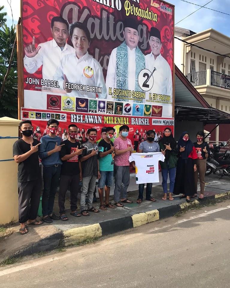 Terus Bergerak Tanpa Henti, Relawan Milenial Das Barito Bersaudara Kabupaten Barsel Lanjutkan Perjuangan Untuk Paslon Nomor 02