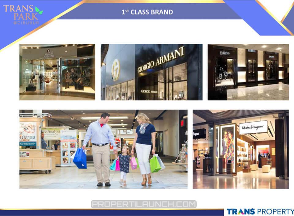 1st Class Brand @ Trans Park Cibubur Mall