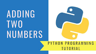 Adding of two numbers program in python