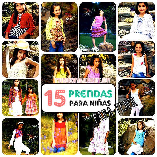 15 prendas de tejido para niñas