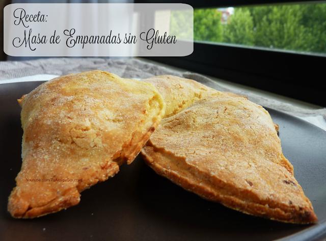 masa para empanadas sin gluten ni lactosa