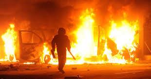 بالصور| جثتين محترقتين وتفحمهما .. أول بيان أمني بشأن حادثة العاشر من رمضان المأساوية😥😥