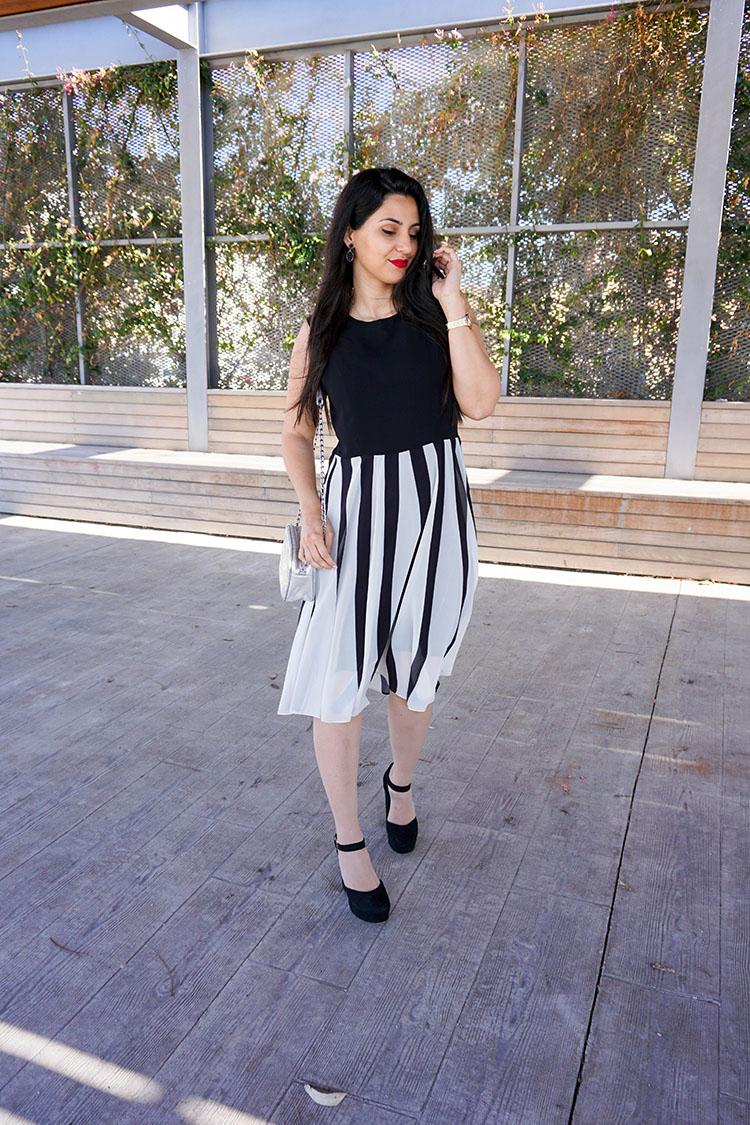 a380fda1e Vestido blanco y negro  Stylewe