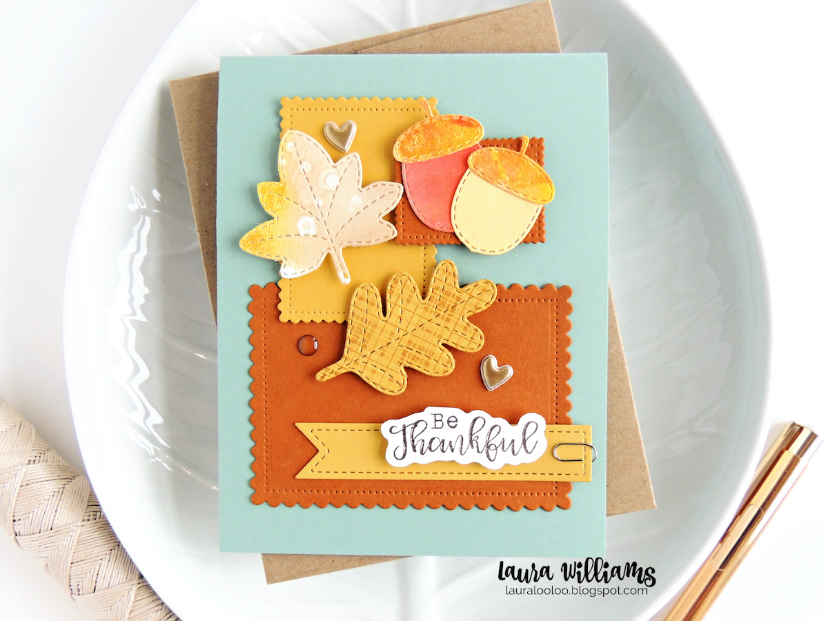 Click to see adorable ideas for collage style handmade cards using stamps and dies from Impression Obsession. Learn to layer simple nested rectangle die cut shapes as the base for sweet cardmaking ideas for all seasons.