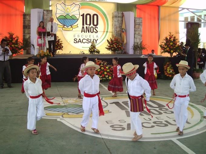 Escuela de Sacsuy cumple 100 años