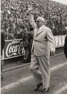 Achille Lauro at the San Paolo Stadium in Naples, which he had built