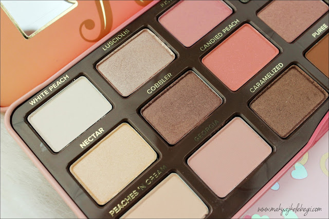 Too Faced Sweet Peach Far Paleti Renkler