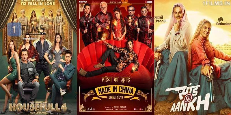 Housefull 4 vs Made In China vs Saand Ki Aaankh Screen Count Poster