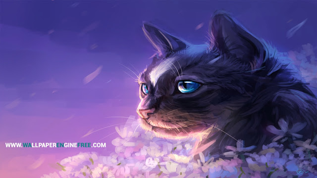Download The Purple Cat Wallpaper Engine