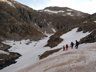 Saliendo del Refugio de Cap de Llauset