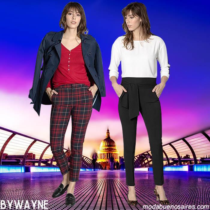 Moda otoño invierno 2019 pantalones de mujer de vestir clásicos urbanos. Moda en colecciones argentina otoño invierno 2019.