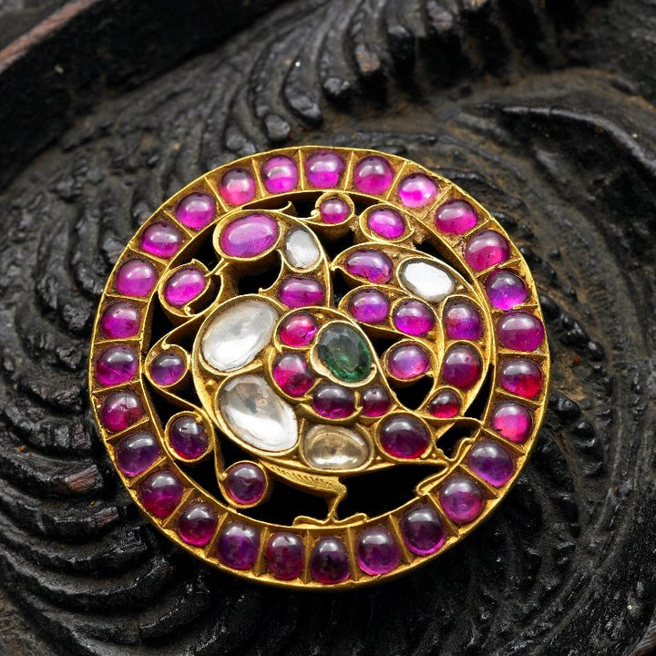 Indian Jewellery And Clothing: Indian Jewellery And Clothing: Elegant Temple Ruby