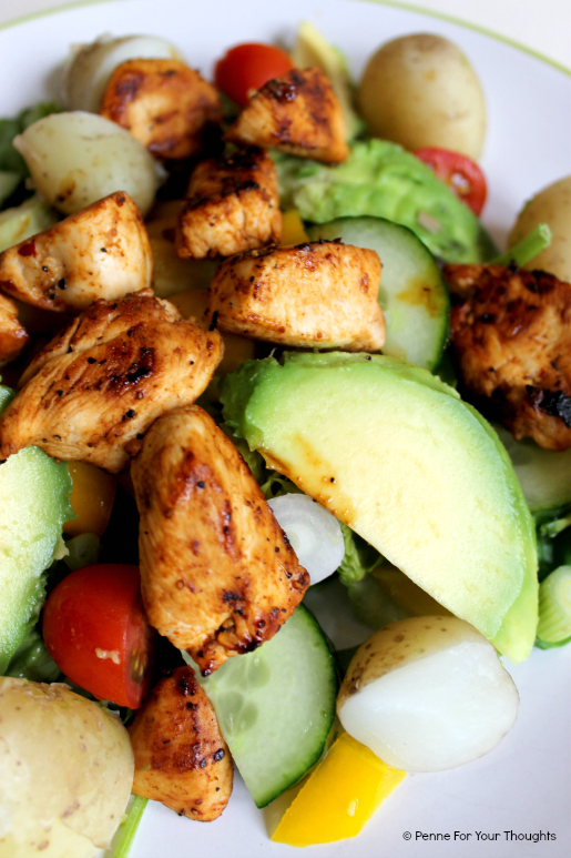 Cajun chicken and avocado salad