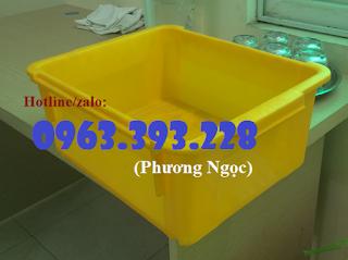 Thùng nhựa đặc A3, hộp nhựa công nghiệp, khay linh kiện 12564503_A3_vang_1