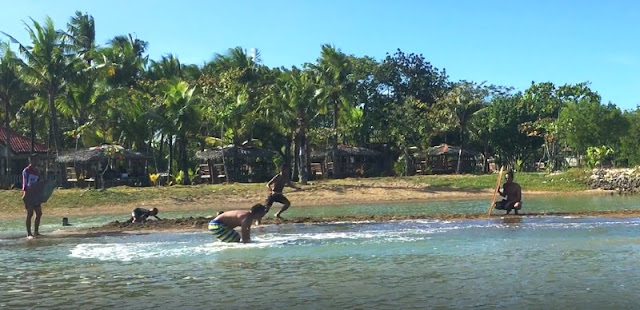 Skimboarding at Seafront Beach Resort