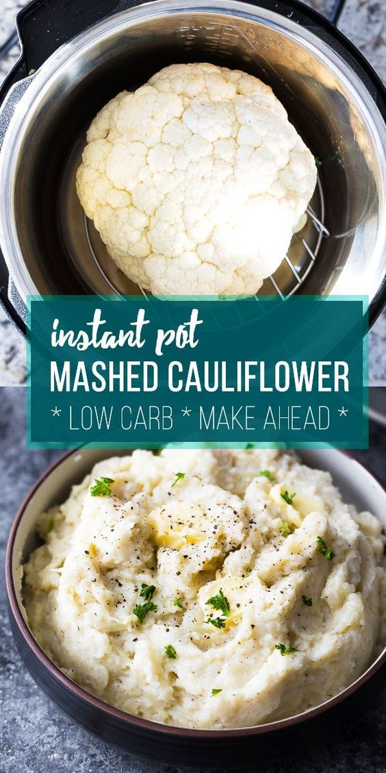 Creamy Parmesan Instant Pot Mashed Cauliflower #recipes #dinnerrecipes #funrecipestomakefordinner #food #foodporn #healthy #yummy #instafood #foodie #delicious #dinner #breakfast #dessert #lunch #vegan #cake #eatclean #homemade #diet #healthyfood #cleaneating #foodstagram