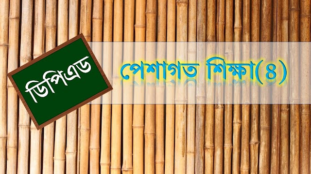 ডিপিএড পেশাগত (চতুর্থ খন্ড) সাজেশন peshagoto Shikkha suggestion