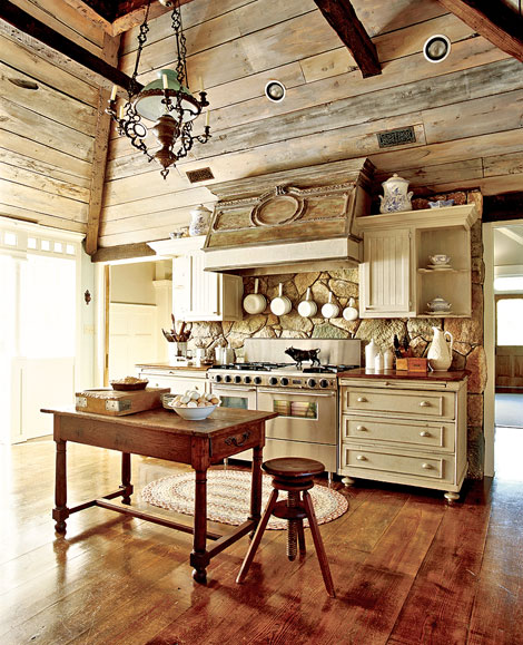 Vintage Rustic Kitchen Cabinets: Margas: Cozy Rustic Kitchens