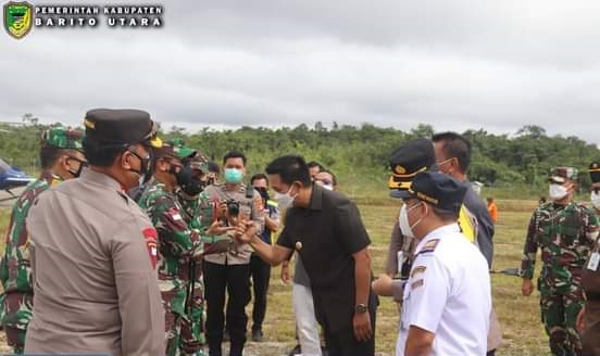 Bupati Barito Utara H Nadalsyah Sambut Kedatangan Pangdam XII Tanjung Pura