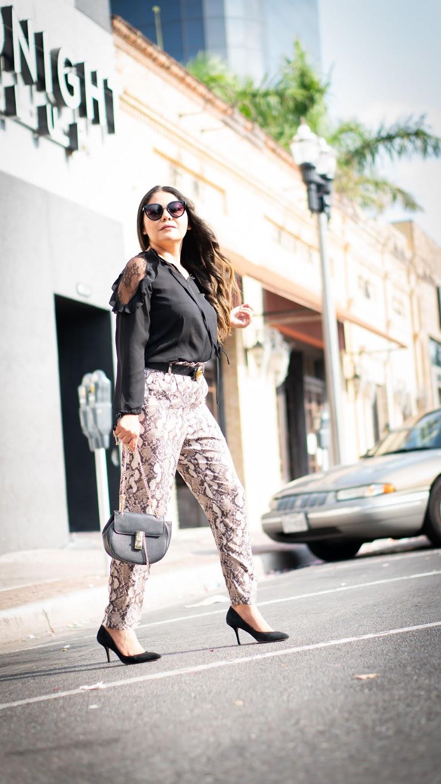 Snake print pants fall 2019