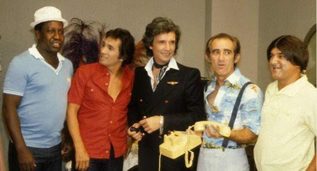 O rei Roberto Carlos e Os Trapalhões, sucessos absolutos na música e no humor, respectivamente