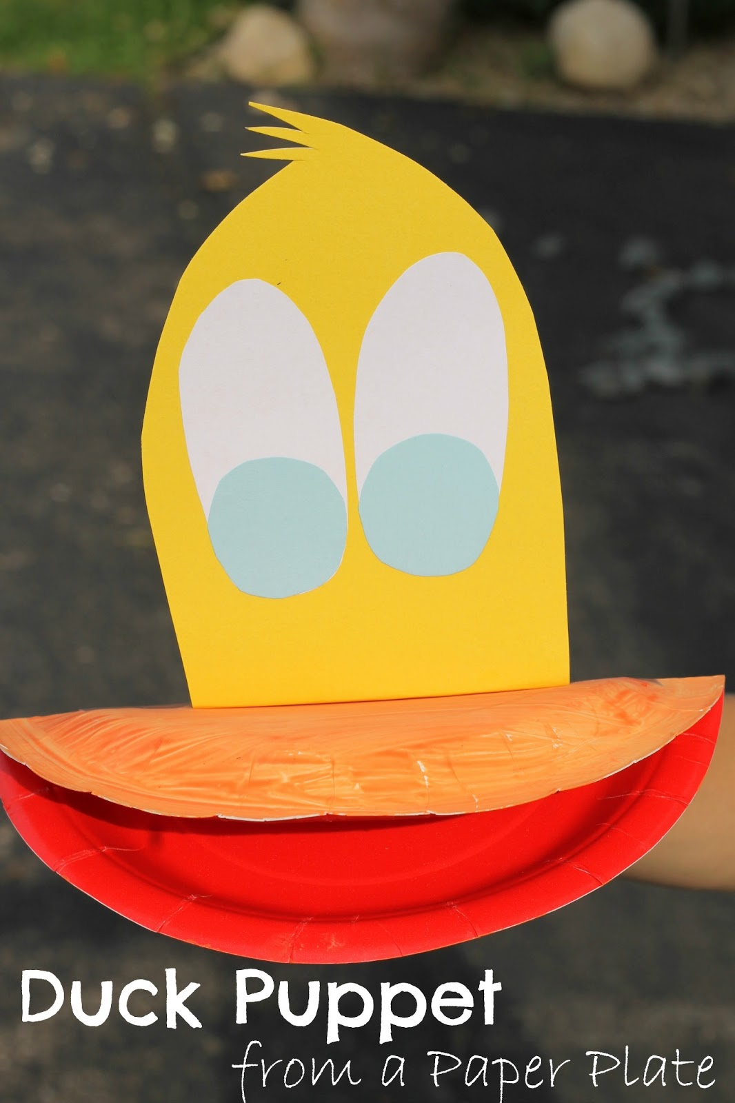 Paper Plate Duck Puppet Virtual Book Club For Kids