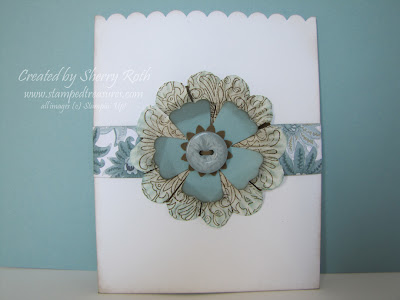 Envelope Pocket using Paper Daisies