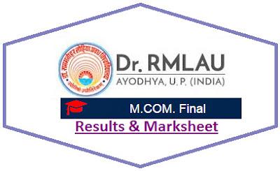 Avadh University M.Com Final Result 2021
