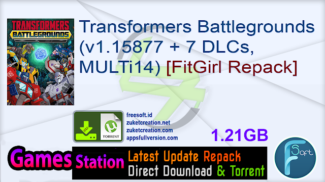Transformers Battlegrounds (v1.15877 + 7 DLCs, MULTi14) [FitGirl Repack]